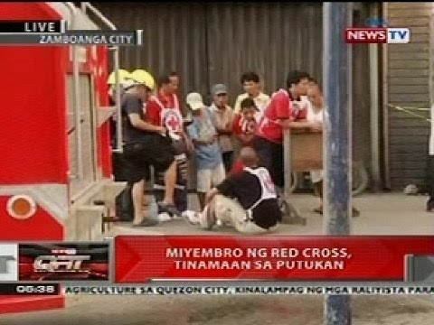 Qrt: Miyembro Ng Red Cross, Tinamaan  Sa Putukan Sa Zamboanga video