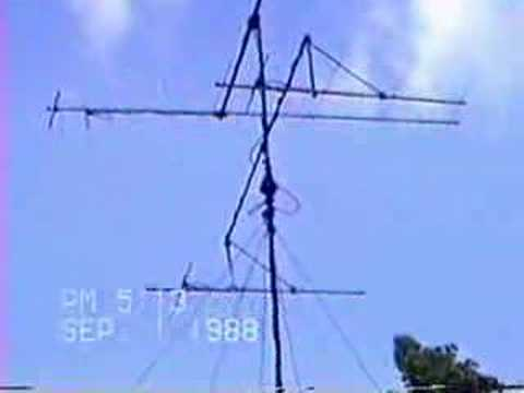 Ham Radio 10,6 and 2 meters Stacked Antennas. ka1klo