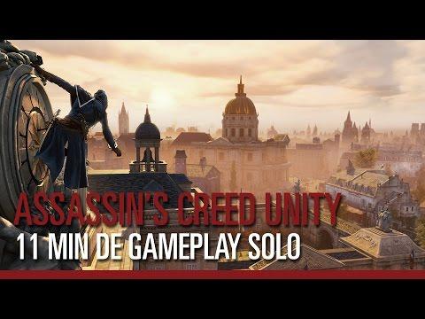 Assassin's Creed Unity - 11 minutes de gameplay Solo - Gamescom 2014