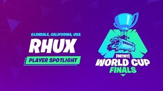 Fortnite World Cup Finals - Player Profile - Rhux