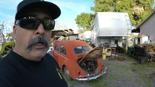 Barn find 58 VW Bug all original sitting for 25 years part 1