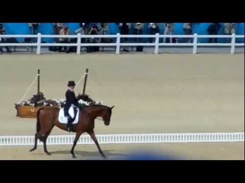 Zara Phillips - Olympic Eventing Dressage - Greenwich Park - London 2012