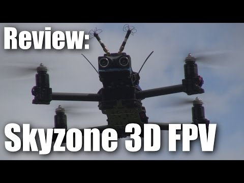 Review: SkyZone 3D FPV glasses (with 3D footage in this video)