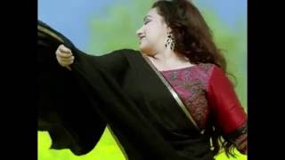 Nithya menon hot black saree and red blouse hot