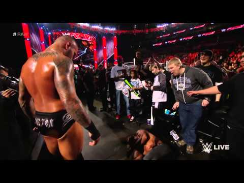 Randy Orton Utterly Dismantles Seth Rollins: Raw, March 9, 2015 video