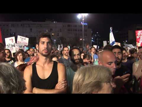 Protest against Israeli attack on Gaza, Tel Aviv.  26.7.2014