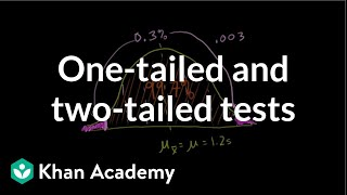 One-tailed and two-tailed tests   Inferential statistics   Probability and Statistics   Khan Academy
