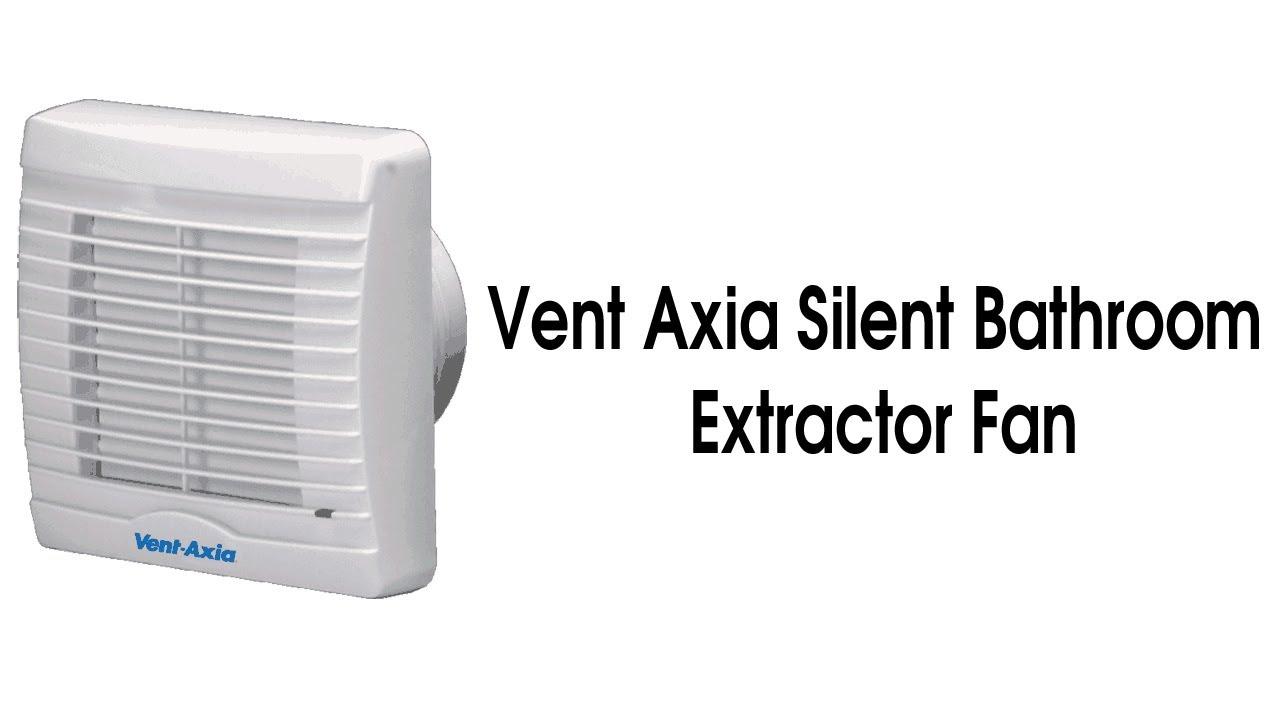 Silent bathroom fan