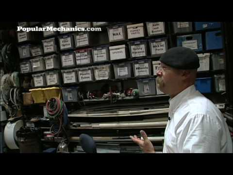 The Wall o  Boxes: Popular Mechanics Tours the MythBusters Workshop