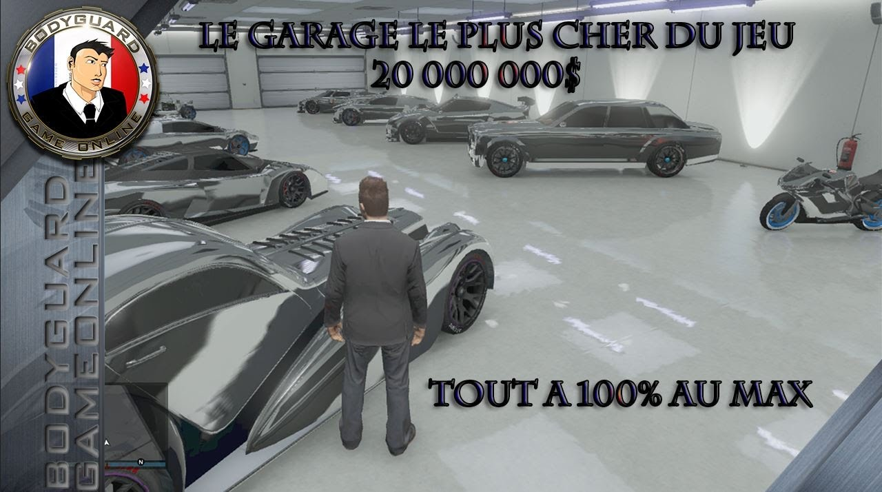 gta 5 le garage le plus cher du jeu 20 000 000 tout les voitures au max 100 grade 100 youtube. Black Bedroom Furniture Sets. Home Design Ideas