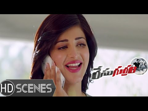 Shruti Hassan discusses about Allu Arjun - Race Gurram Movie Scenes - Prakash Raj