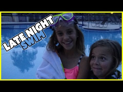 LATE NIGHT SWIM | ICE COLD WATER CHALLENGE | SMELLY BELLY TV