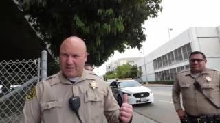 LA Sheriff/ Lynwood Jail (3:48 & 9:01)  (FAILED THREAT & INTIMIDATION) 1st Amend Audit