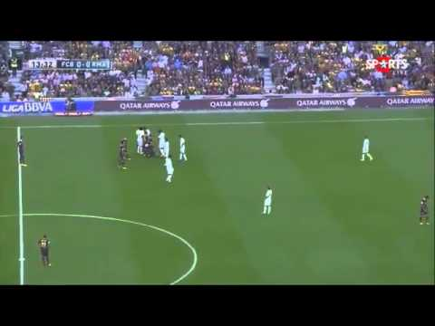 Neymar vs Sergio Ramos Barcelona vs Real madrid La Liga 26 10 2013 HD