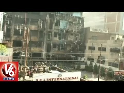 UP Police Files FIR in Charbagh Hotel Fire Accident | 6 Dead After Fire Breaks Out | V6 News