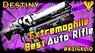 Destiny Extremophile Best Auto Rifle Amazing Perk Combo Review