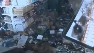 නේපාලයේ භූ කම්පනය සිදුවූ හැටි වෙළඳසැලක CCTV කැමරාවේ සටහන් වී තිබූ අයුරු...!! Earthquake in Nepal CCT