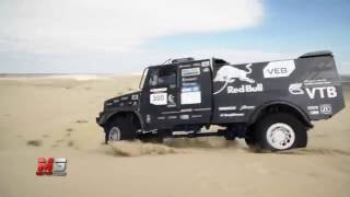 NEW KAMAZ CAB TRUCK 2016 - FIRST TEST DRIVE ON DESERT AT SILK WAY RALLY 2016
