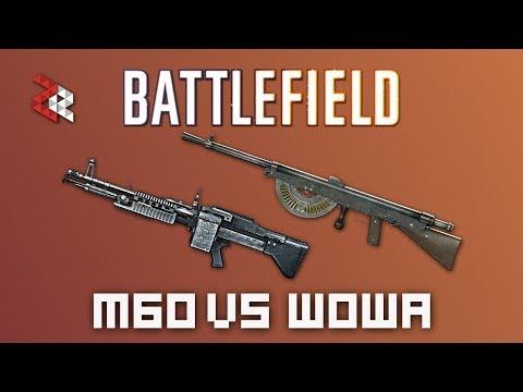 M60E4 VS ПУЛЕМЁТ ШОША | BATTLEFIELD VERSUS