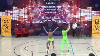 Nicole Kalb & Alexander Kapsalis - Landesmeisterschaft Hessen, Rlp, Saarland 2016