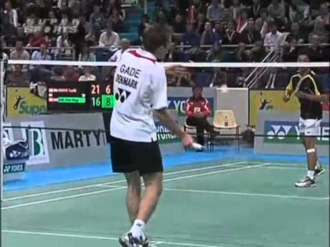 yonex badminton french open 2008 Peter Hoeg GADE 8 vs Taufik HIDAYAT 7 Yonex Badminton French Open 2008 Final1