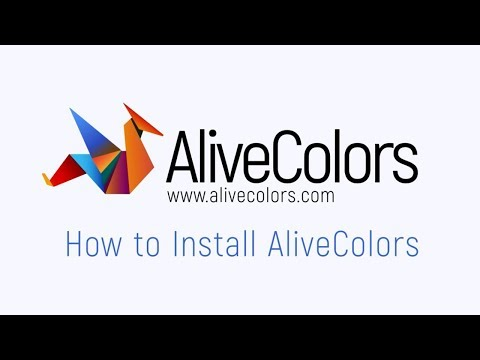 How to Install AliveColors in Windows and Mac