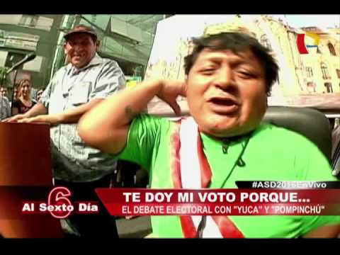 Limeños Defienden Su Voto En Un Candente Debate Callejero Con Los Cómicos 'Yuca' Y 'Pompinchú'