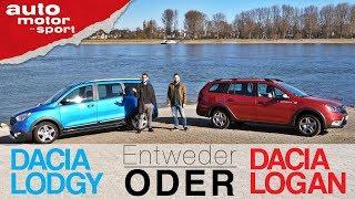 Dacia Lodgy Stepway vs Logan MCV Stepway | Entweder ODER | (Vergleich/Review) auto motor und sport