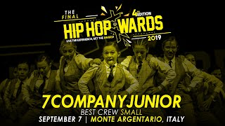 [BEST CREW SMALL] 7COMPANYJUNIOR (ITA) - Small Division | Hip Hop Awards 2019 The Final