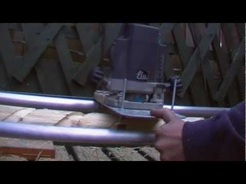 we built a router lathe