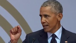 """Obama on embracing our common humanity: """"Just ask the French football team"""""""