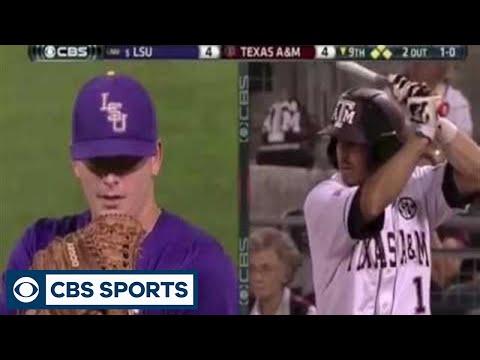 LSU outfielder Jared Foster's amazing catch