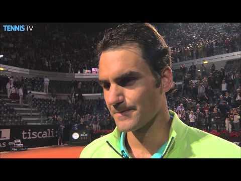Rome 2015 Saturday Interview Federer