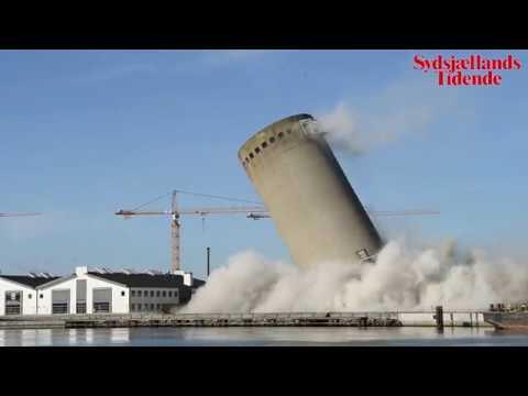 Silo sprænges på Sydhavnen i Vordingborg