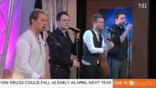 Westlife - The Rose, live performing on Sunrise