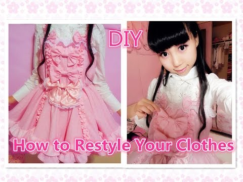 Kawaii Diy Dress- How To Restyle Your Old Clothes To Lolita Dress video