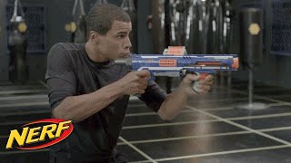 NERF - John Brenkus From Sport Science Shows Off The Rampage & Retaliator Blasters