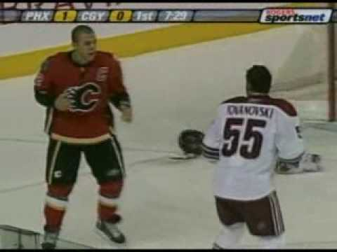 Jovanovski vs Iginla Feb 5, 2008 Video