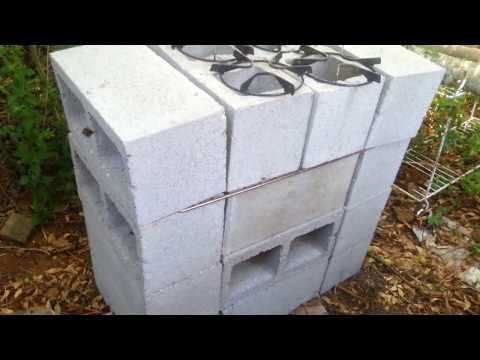 How i built my rocket stove. grill. oven all in one