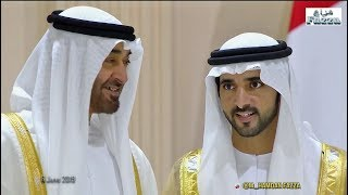 Dubai royal wedding: 𝙎𝙝𝙚𝙞𝙠𝙝 𝙃𝙖𝙢𝙙𝙖𝙣 (فزاع 𝔽𝕒𝕫𝕫𝕒) & brothers celebrate with UAE Rulers (6.06.2019)