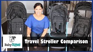 Travel Stroller Comparison - Mountain Buggy Nano vs GB Qbit vs Babyzen YoYo