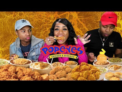 Popeyes Chicken Mukbang with the Boys thumbnail