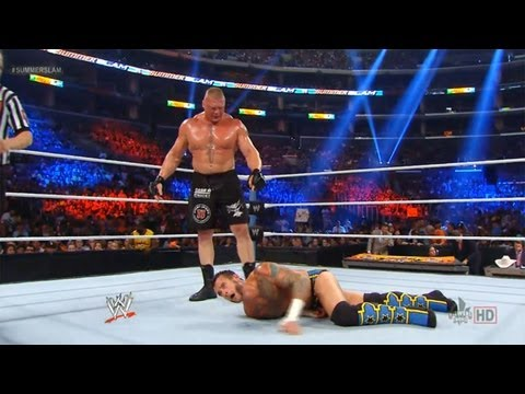 WWE Summerslam 2013 CM Punk vs Brock Lesnar The Best vs The Beast Match ( WWE 13 Simulation )