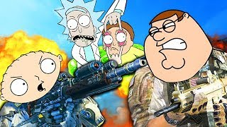 FAMOUS PEOPLE PLAY CALL OF DUTY! #2 (Stewie Griffin, Kermit the Frog, Kanye West, Mickey Mouse)
