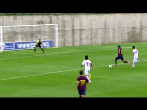 Luis Suarez trifft doppelt! Seine ersten Tore im Barca-Trikot | FC Barcelona B - Indonesien U19 5:0