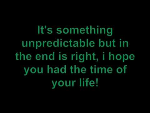 Green Day - Time Of Your Life With Lyrics video