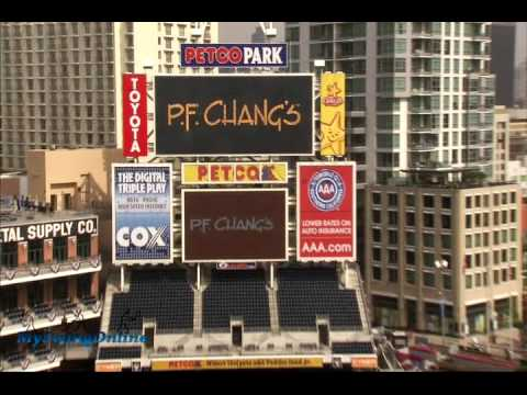 baird's impossible chip shot-bullseye petco park 2009 Video