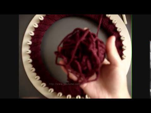 Como hacer gorro-boina en telar circular