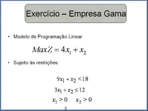 Programação Linear - Método gráfico - Parte 1 de 2
