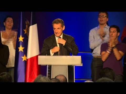 Nicolas Sarkozy en meeting UMP à Nice